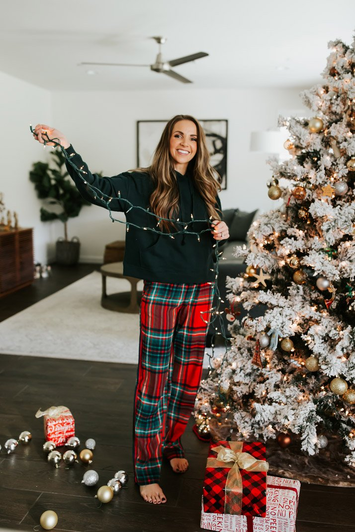 plaid pajama pants that come in three lengths