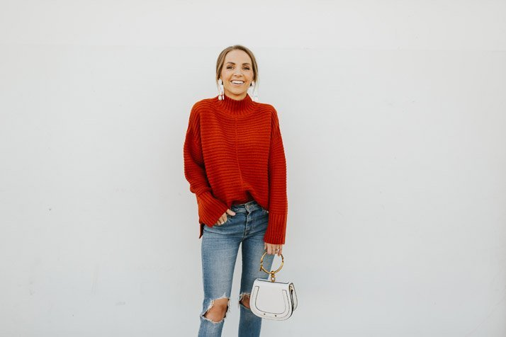 this cute turtleneck sweater is perfect for winter!
