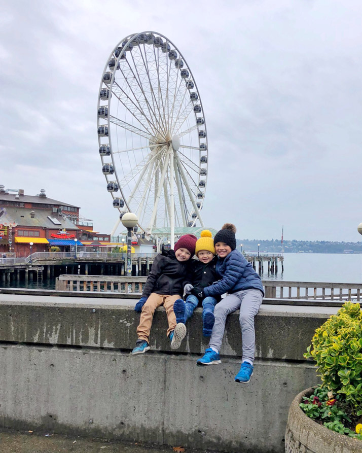 boys in front of the great wheel