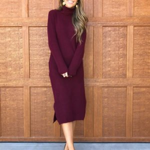 sweater dress with heels