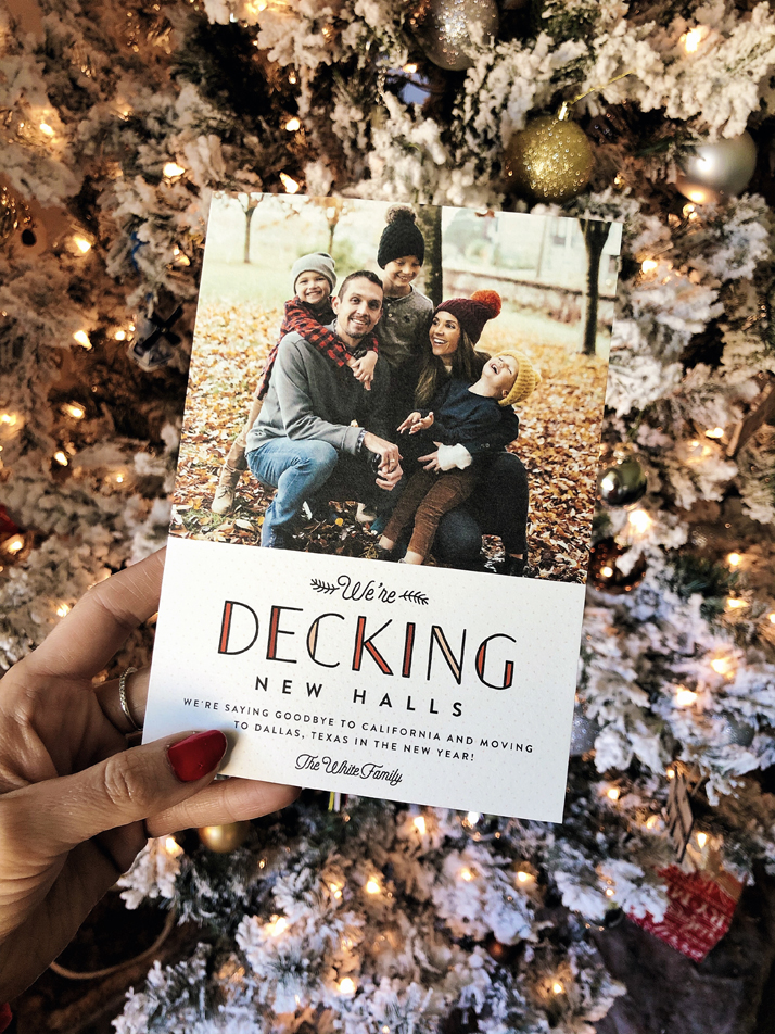 Moving Announcement Christmas card from Minted