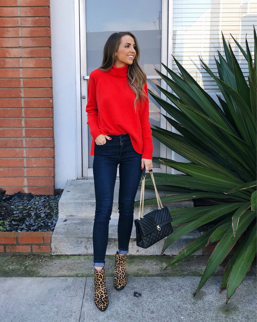 red turtleneck sweater j.crew