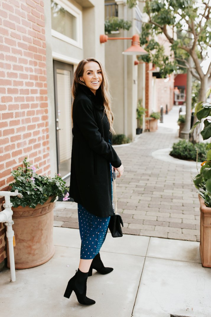 how to wear a dress in the winter and stay warm