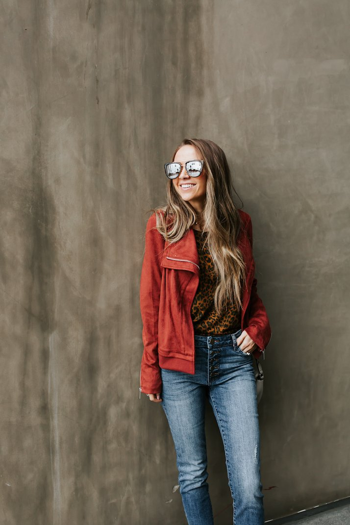 this cute red jacket came in my stitch fix box - it's so soft and cozy