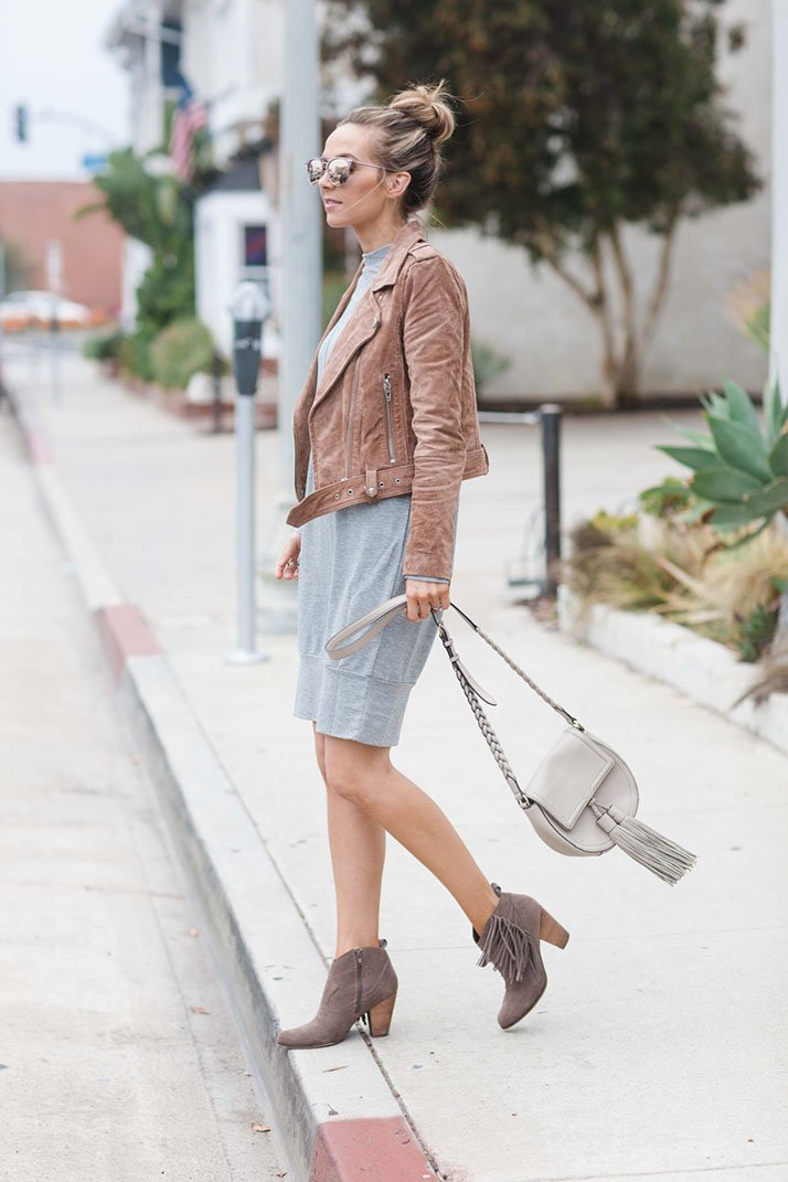 how to wear a suede jacket