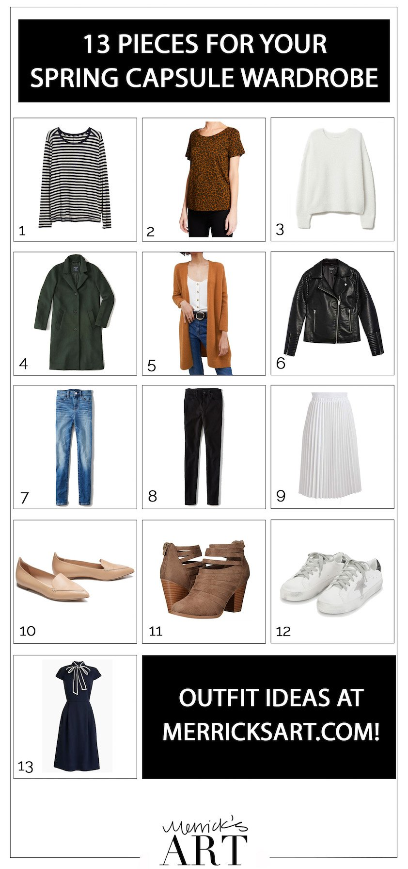 This small capsule wardrobe is great for traveling or trying out the capsule wardrobe!