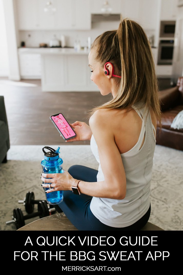 a quick video guide for the BBG Sweat App from Kayla Itsines!