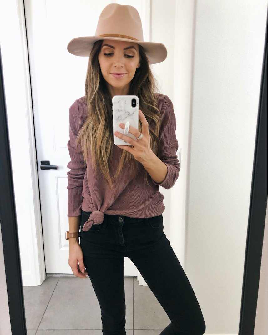 Loving this knotted top that's under $40!