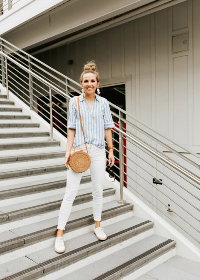 outfits with white jeans