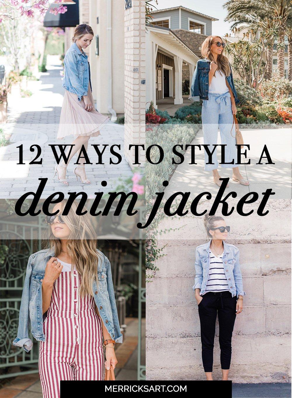 527e33cea63 12 Ways To Wear A Denim Jacket | Merrick's Art | Merrick's Art