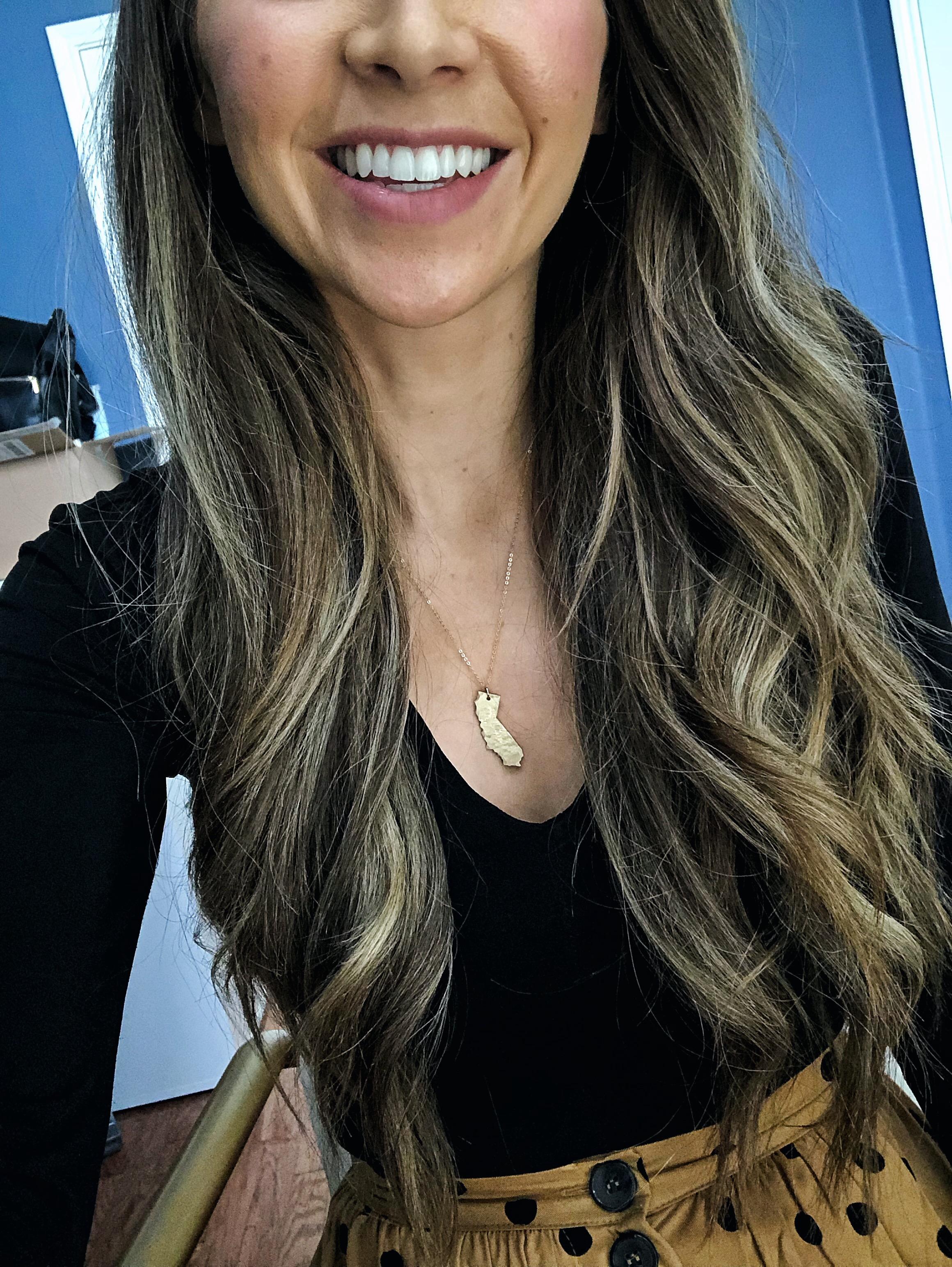 nashelle california hammered gold necklace