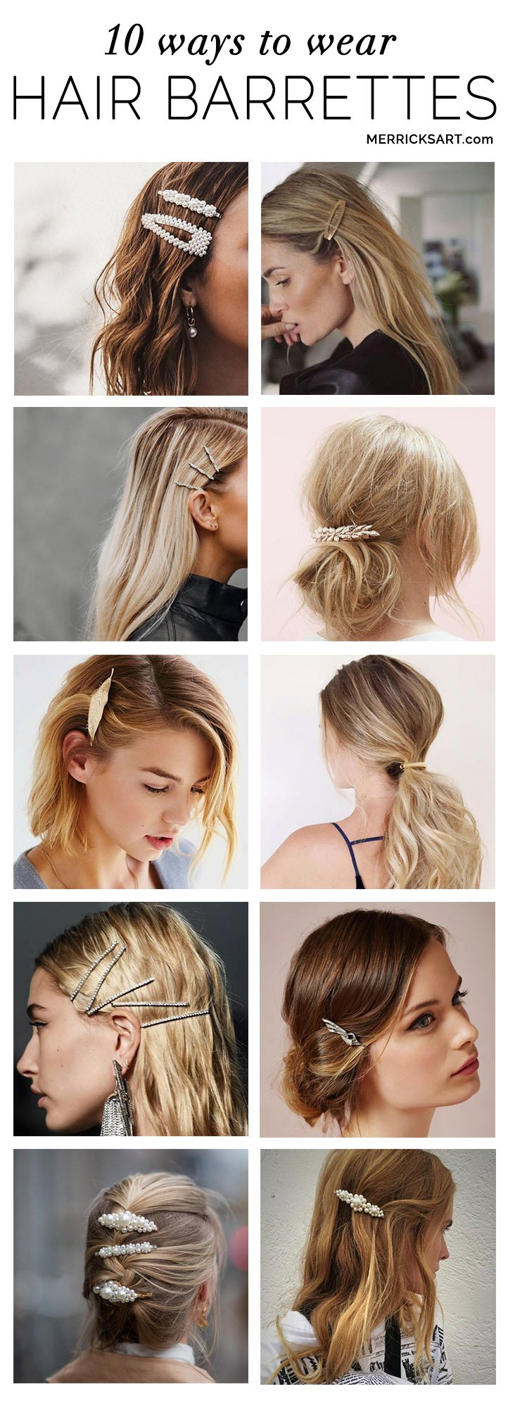 10 ways to wear hair barrettes