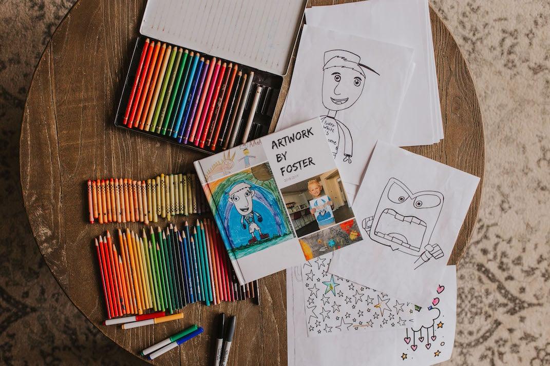kids artwork book