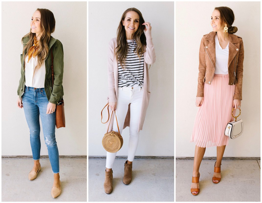 A Step By Step Guide for Putting Together Three Spring Outfits