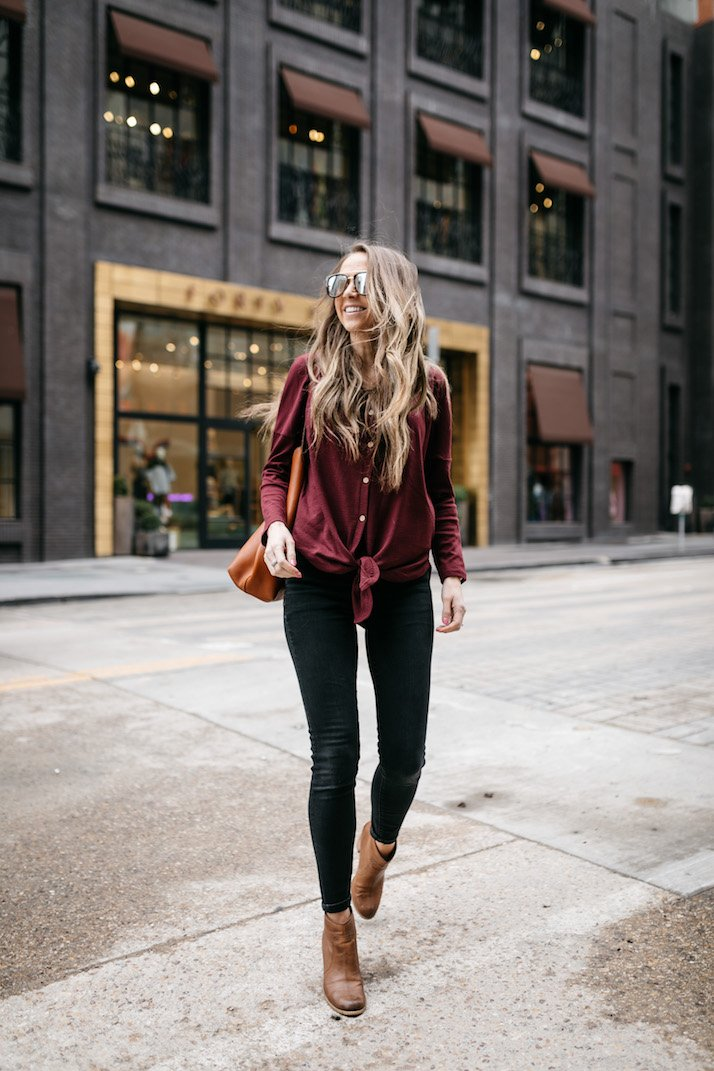 I'm obsessed with this henley tee that's under $20!