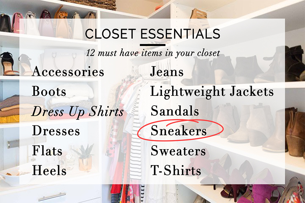 closet essentials-sneakers