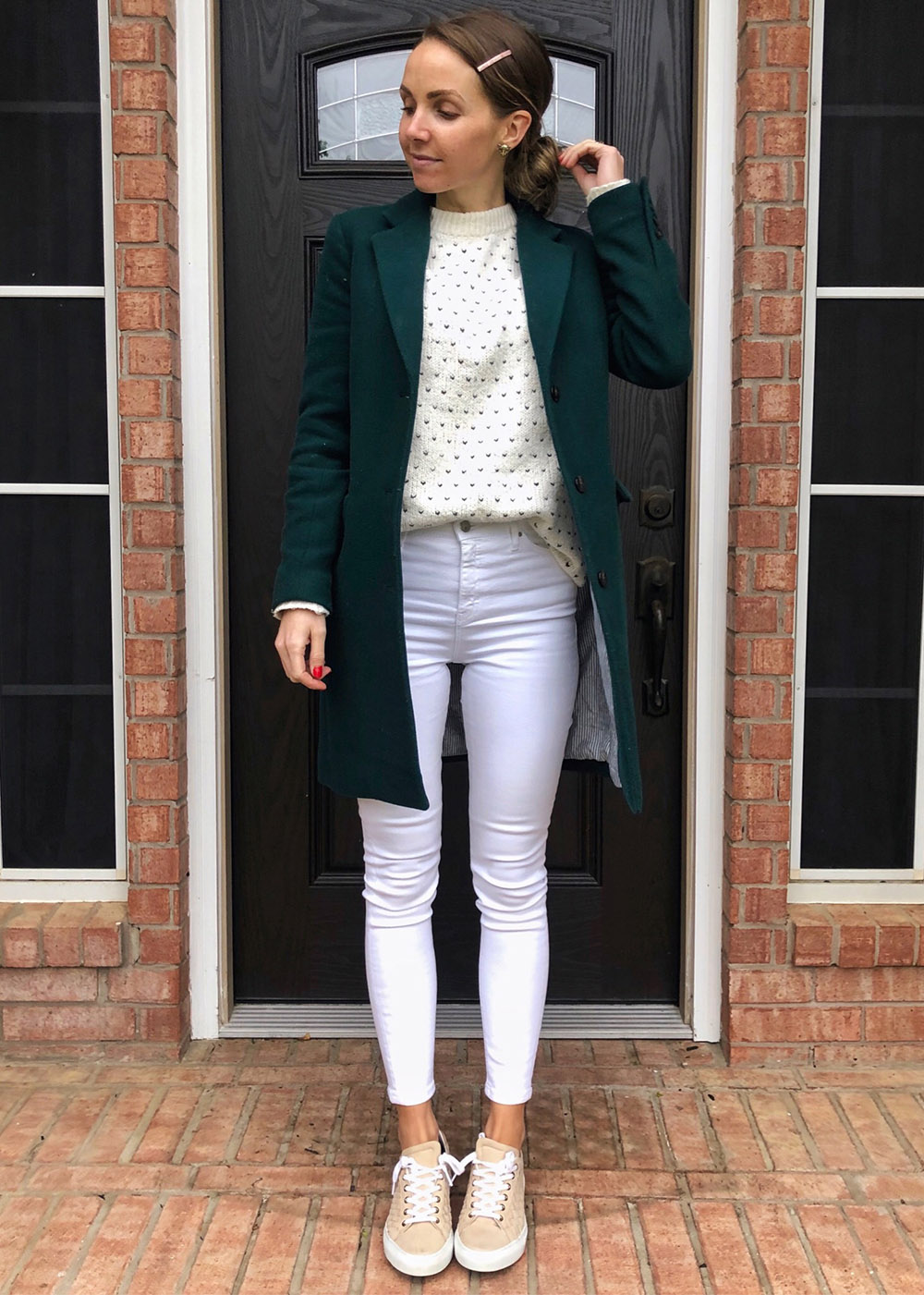 coat and white jeans | instagram outfits