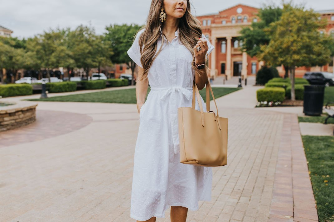 white eyelet shirtdress from walmart merricksart