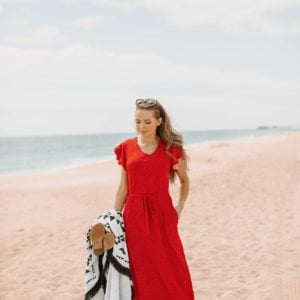 MW Anywhere Dress in Fiesta Red