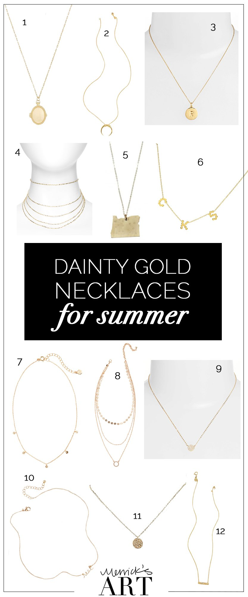 dainty gold necklaces for summer