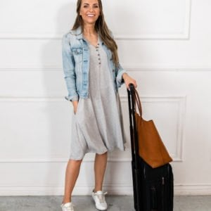 merrick white anywhere henley dress heather gray travel style