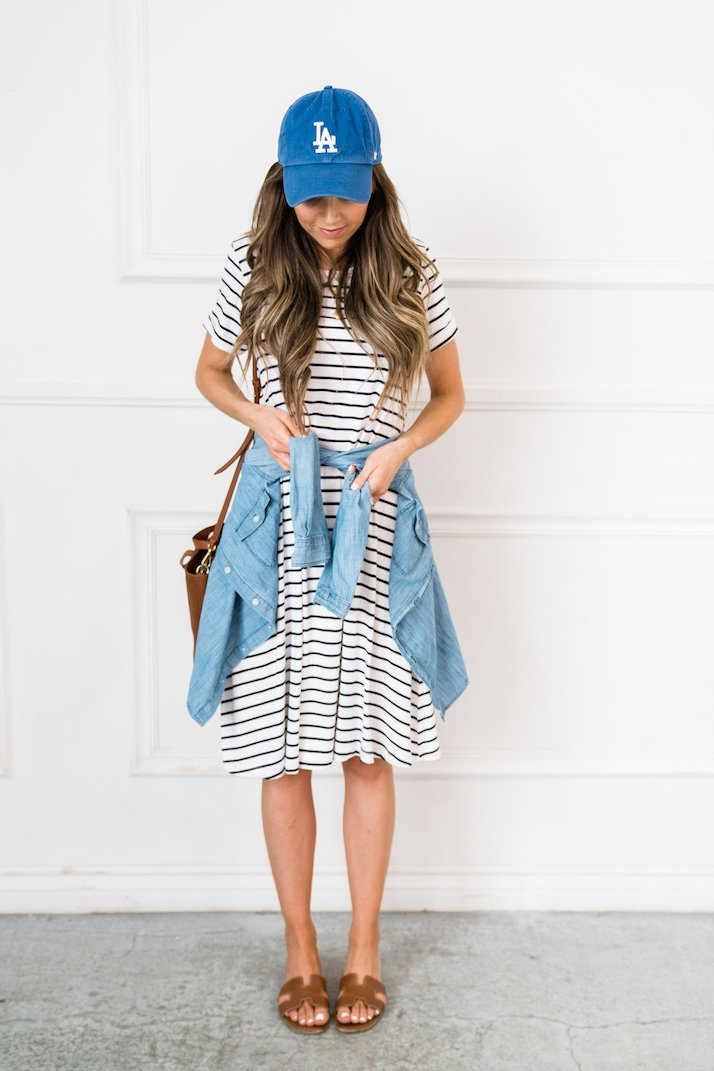 the perfect striped dress for summer