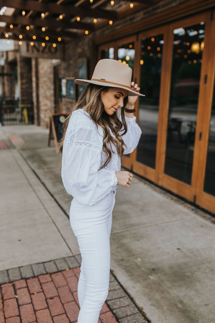 an all white look for summer