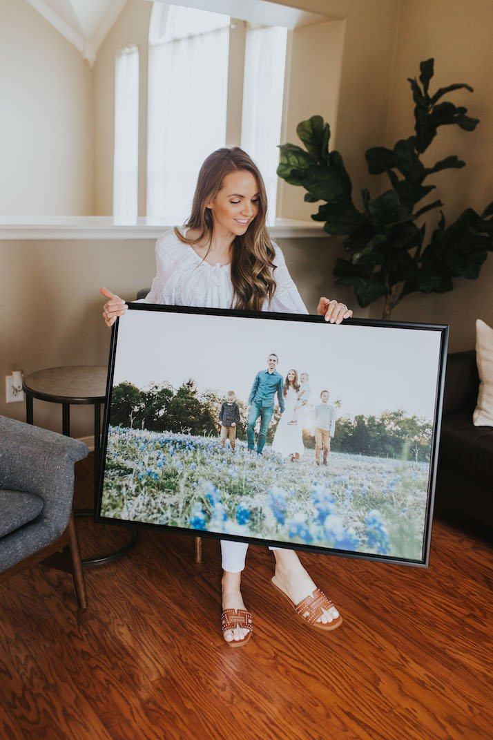 mixbook canvas print with floating frame