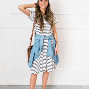 the perfect striped summer dress