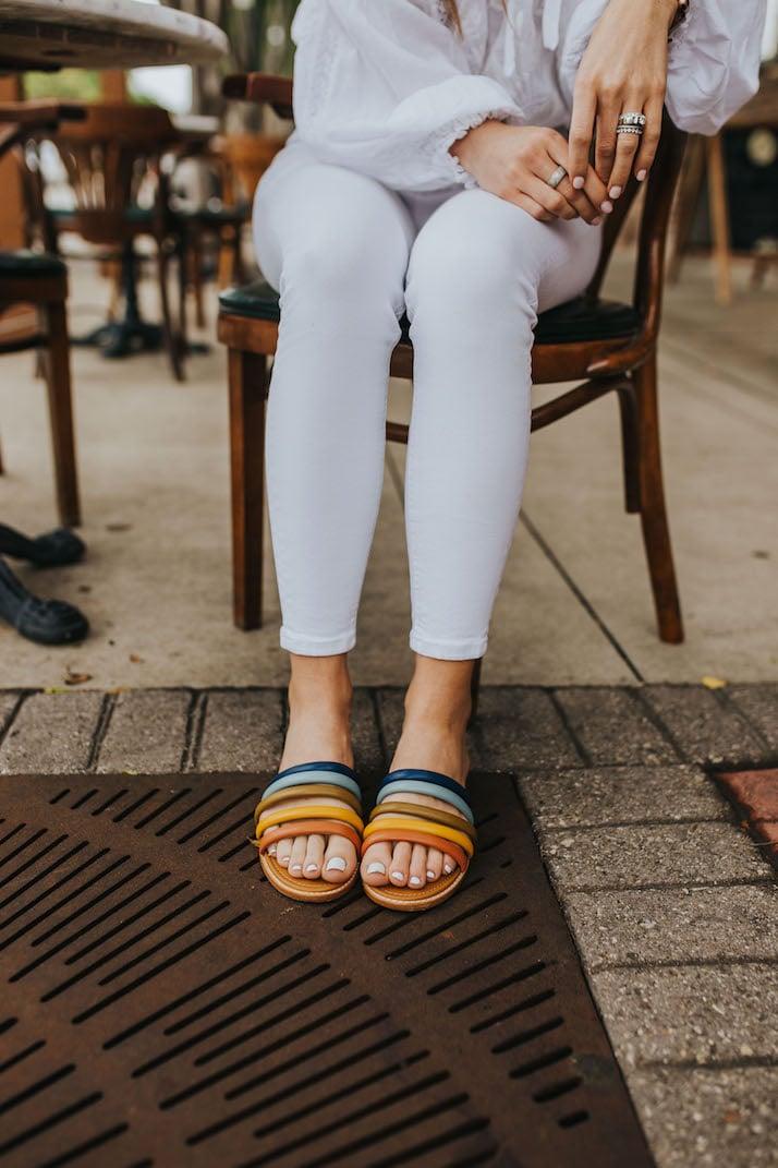 rainbow sandal sale