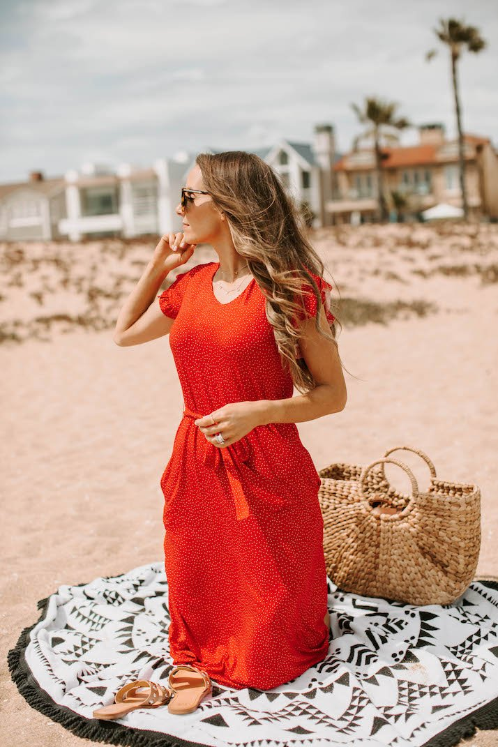 wear your anywhere dress with sandals to the beach!