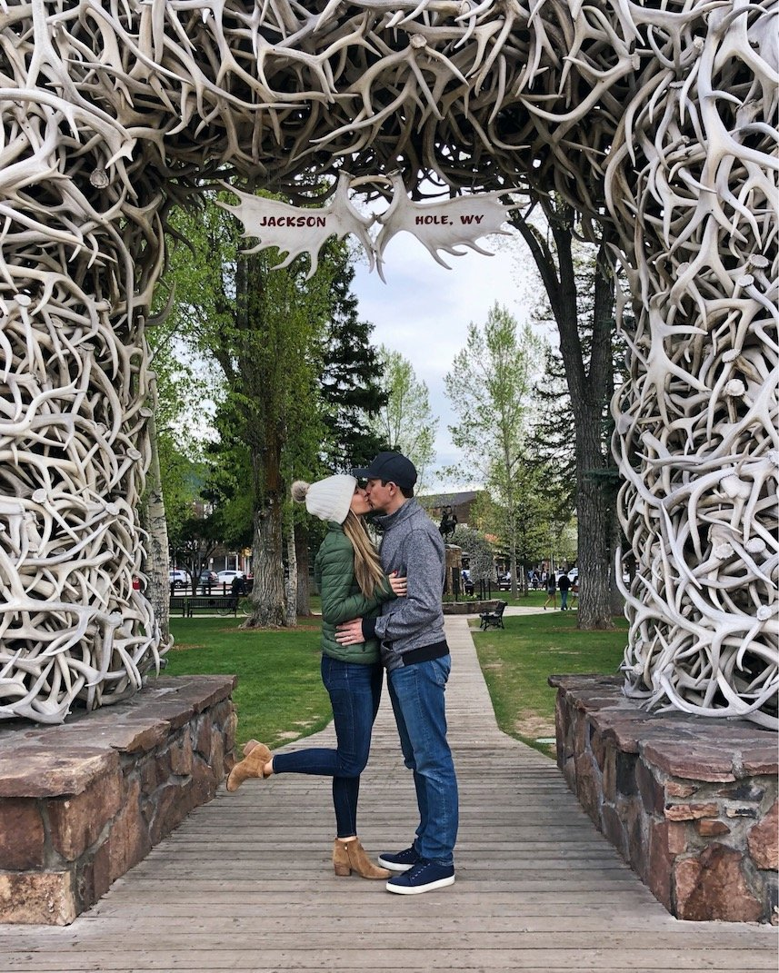 antler arch in jackson hole wyoming