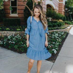 chambray dress under $20