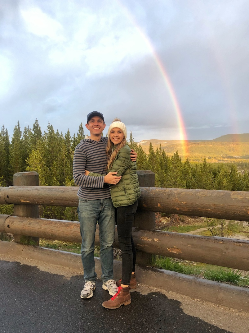 yellowstone national park rainbow
