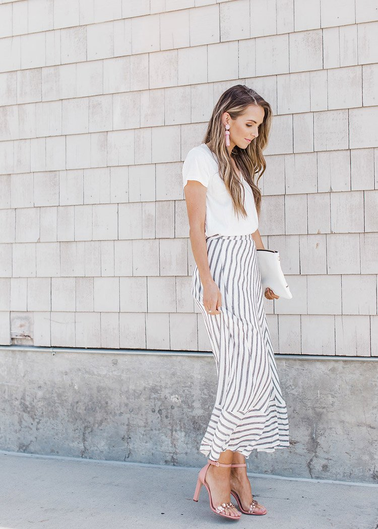 dressed up maxi skirt