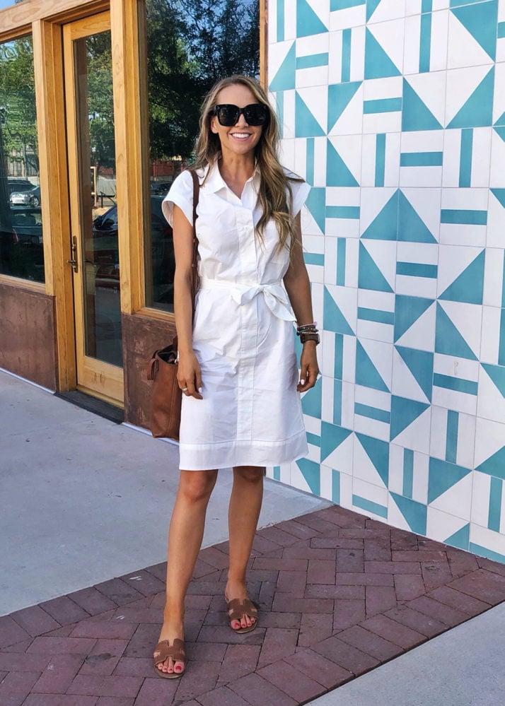 white shirt dress