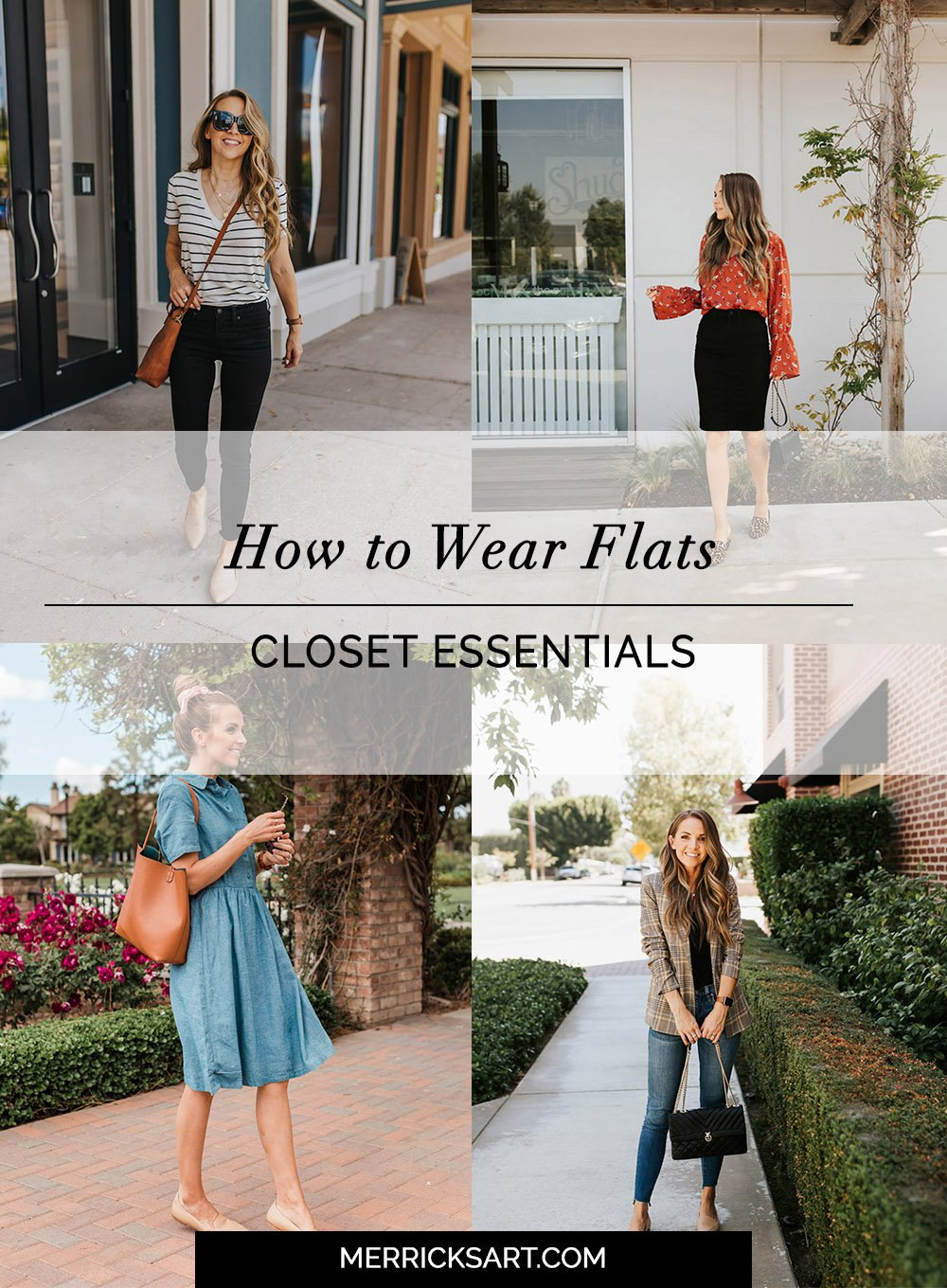 how to wear flats with jeans, skirts, dresses, and more!