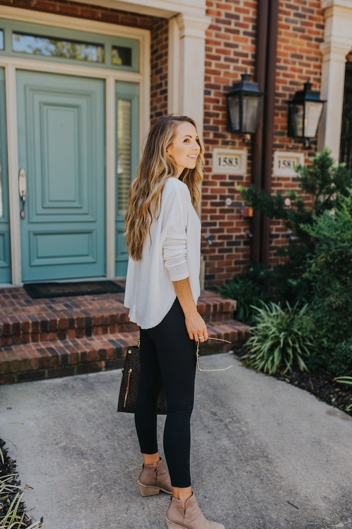 urban outfitters henley with leggings