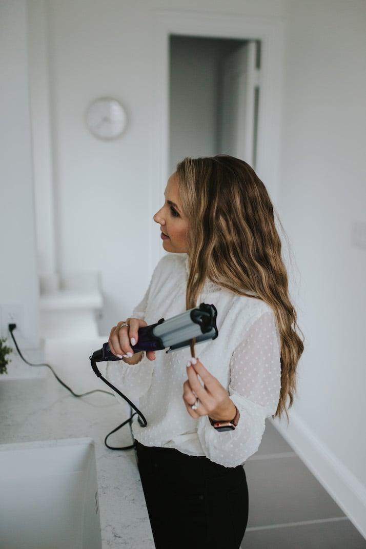 bed head waver hair tutorial