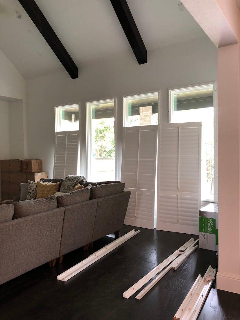budget blinds shutter installation