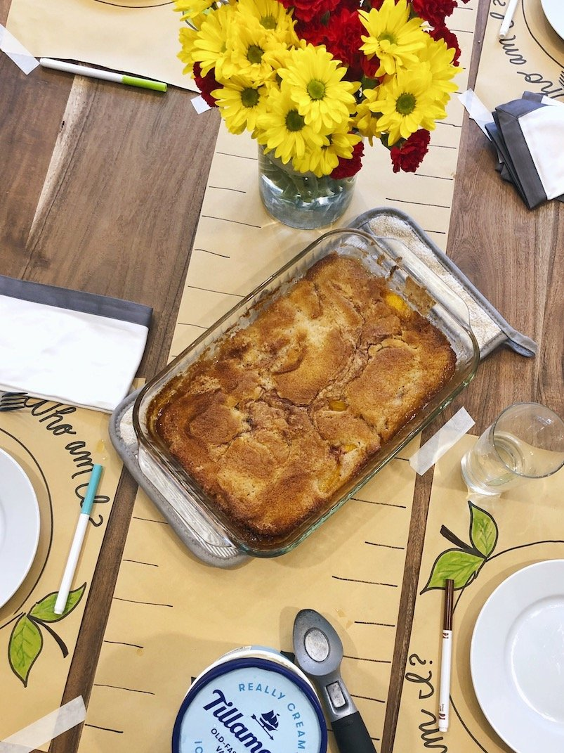 authentic texas peach cobbler