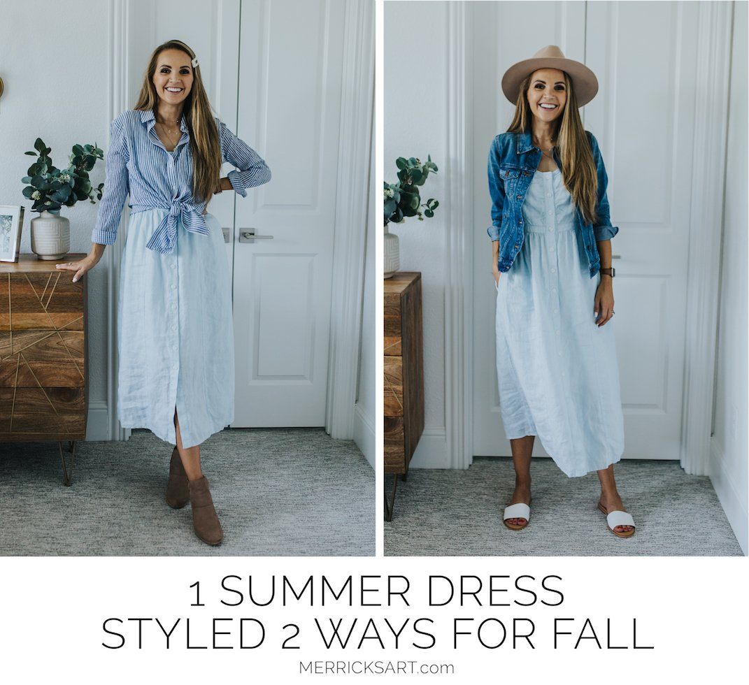 summer dress two ways for fall