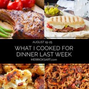 weekly menu august 19-25