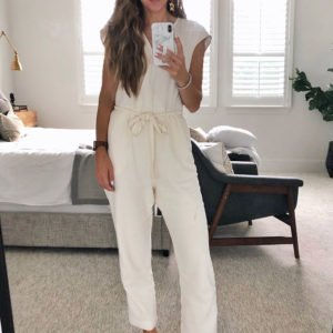 white linen jumpsuit - instagram outfit