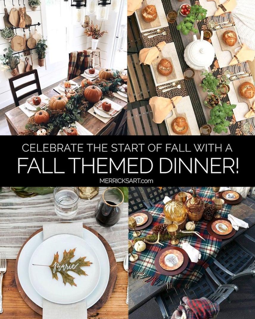 fall themed dinner ideas