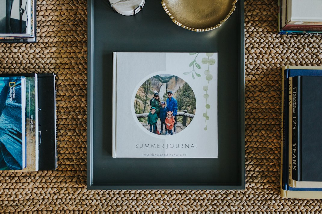 how to make a family photo book journal