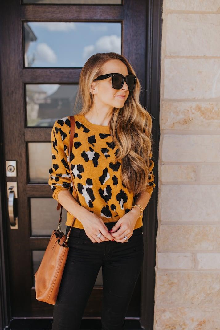 walmart leopard sweater