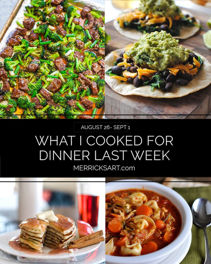 weekly dinner menu august 26-sep 1