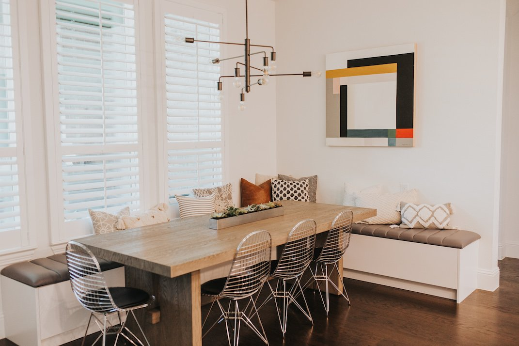 merrick's art kitchen and breakfast nook in our new home