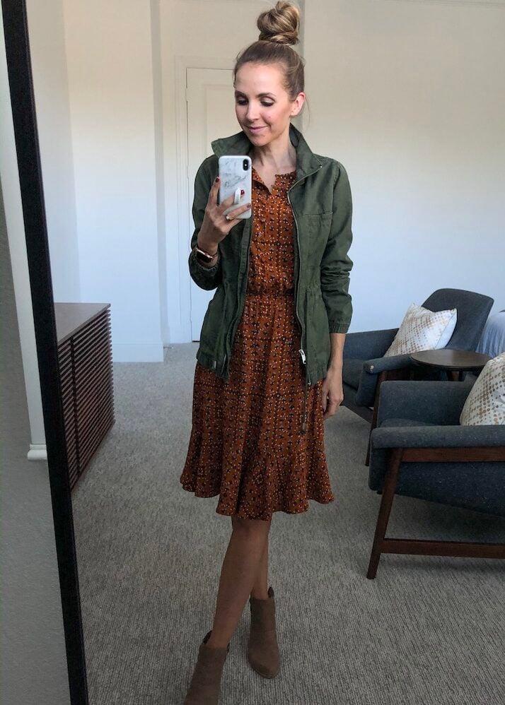 how to wear a fall dress